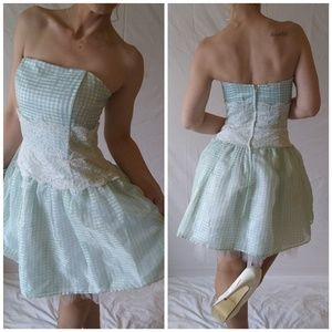Dresses & Skirts - Gorgeous one of a kind mint green and lace dress